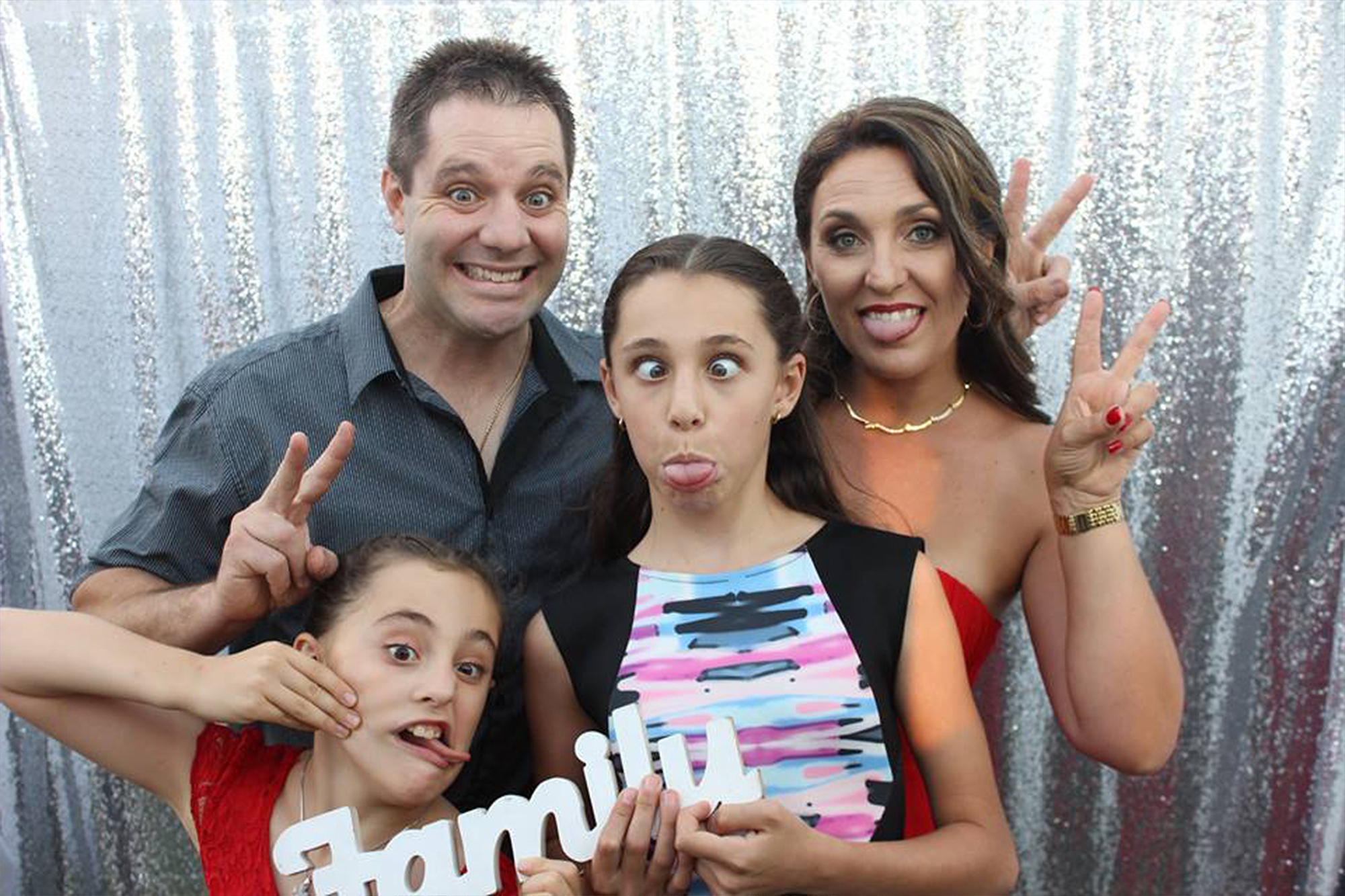 Photo Booth Fun at 40th Birthday Perth