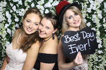 Boxwood Green Flower Wall Photo Booth Perth
