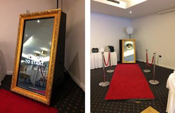 Gold Mirror Photo Booth Hire Perth