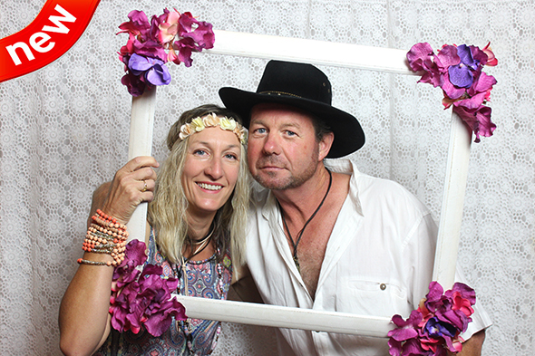 Open Photo Booth with Boho Backdrop