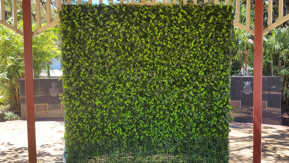 Green Flower Wall Photo Booth Perth