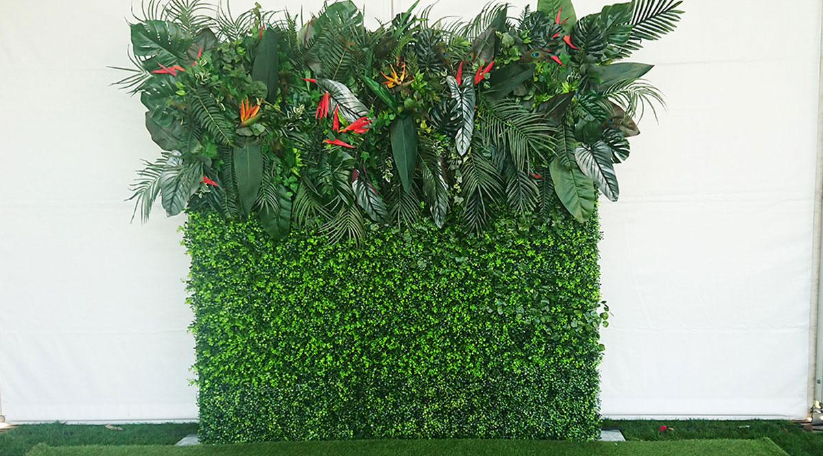 The Tropical Flower Wall Photo Booth