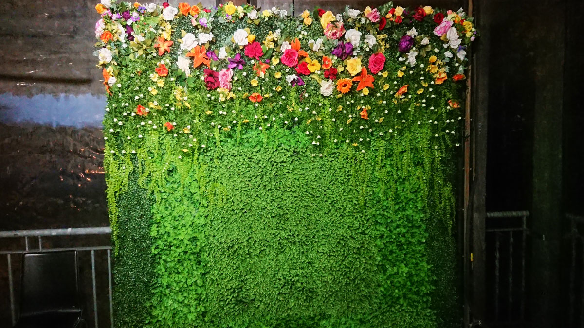 Bohemian Spring Flower Wall Photo Booth Perth