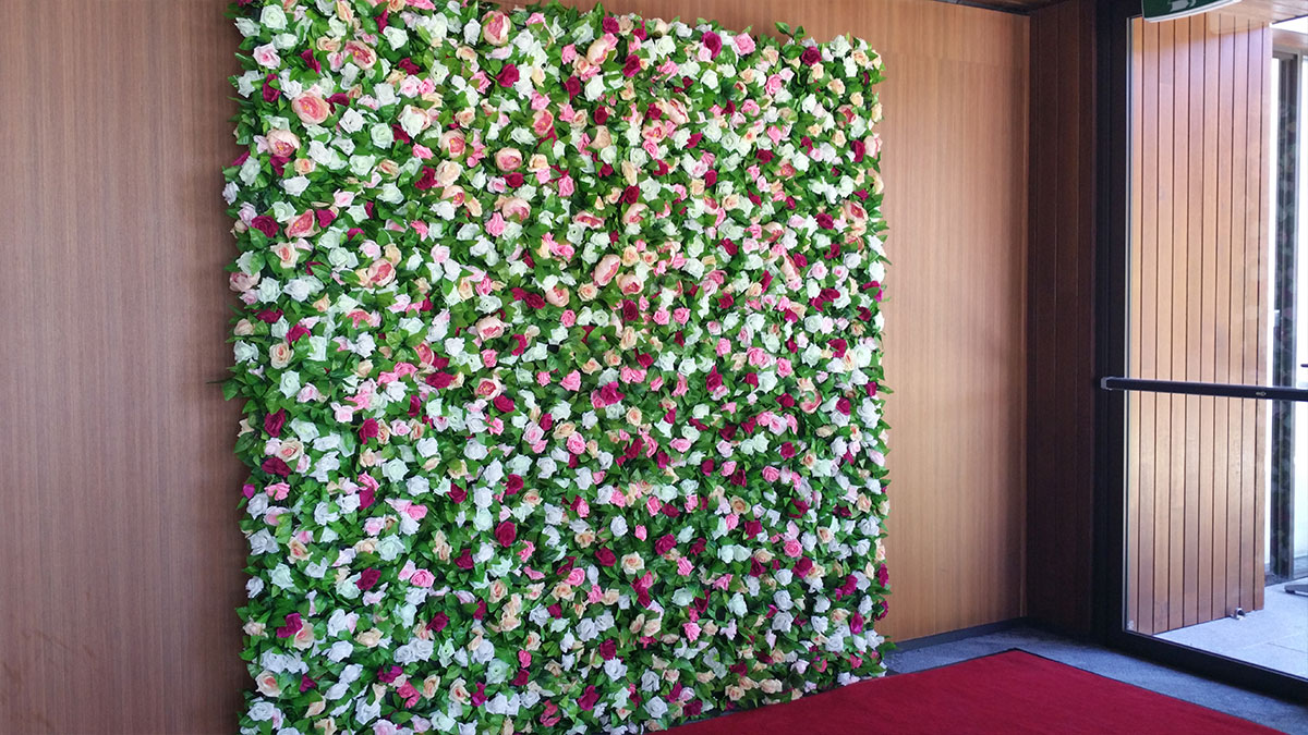 Neutral Colours Flower Wall