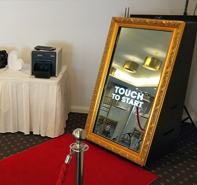 Gold Mirror Photo Booth for Hire Perth