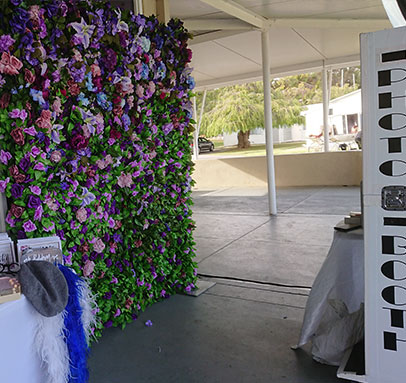 Purple Flower Wall Photo Booth Perth