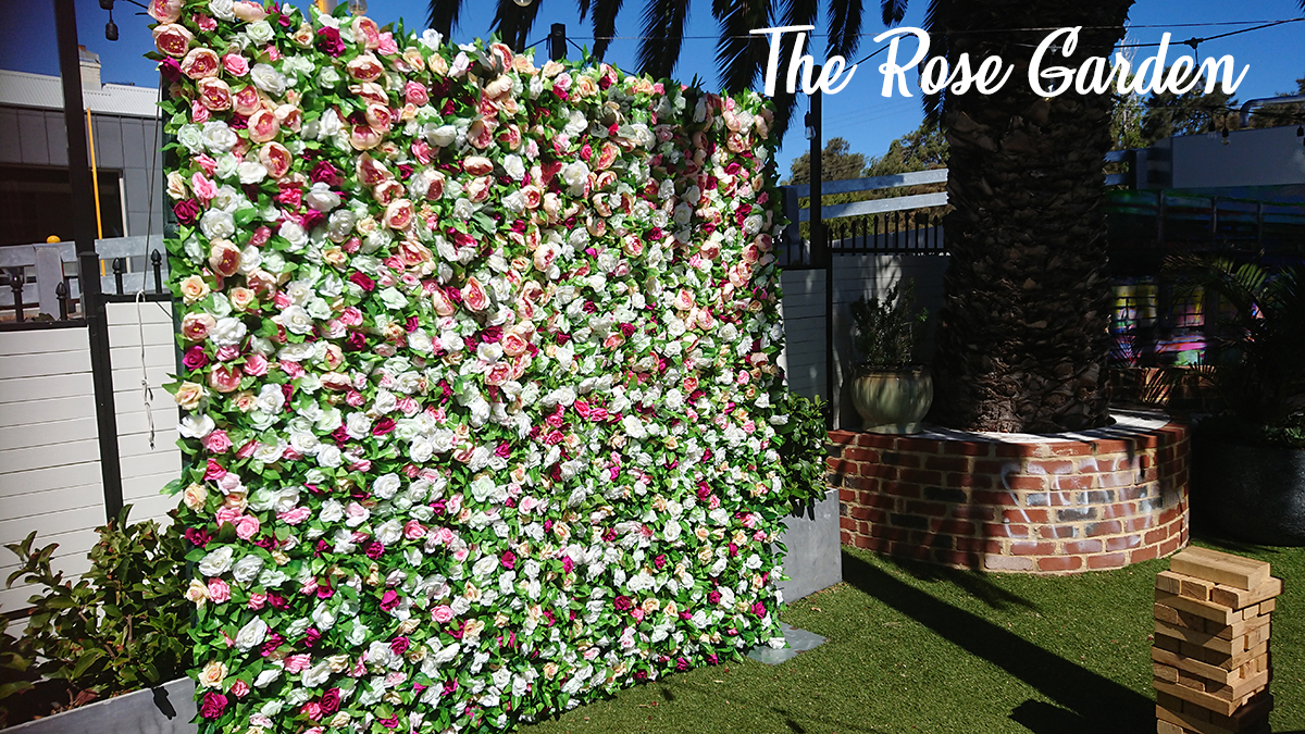Flower Wall with pastel coloured roses