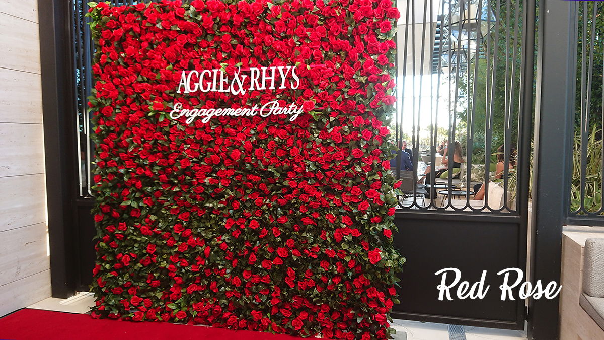 Red Roses Flower Wall Photo Booth Perth