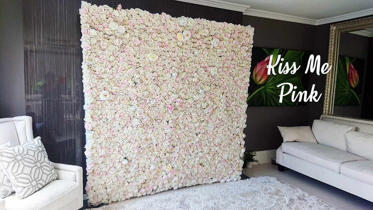 Baby Pink Flower Wall For Hire Perth