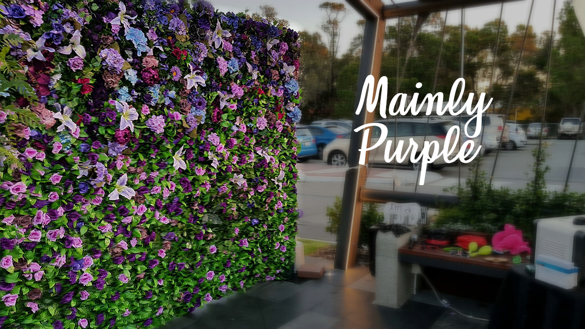 Purple Flower Wall For Hire