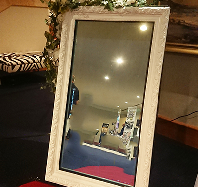 Mirror Photo Booths with White Frame for Hire Perth WA