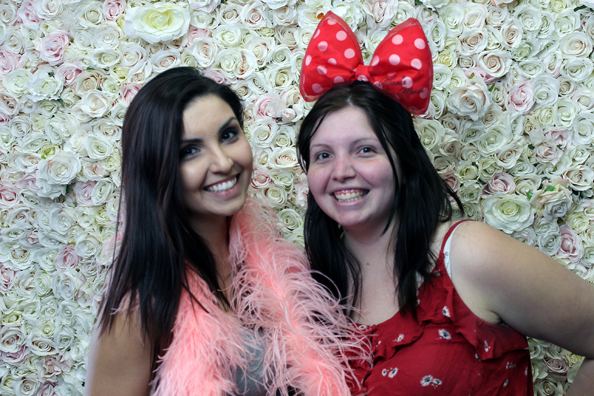 Pink Flower Wall Photo Booth Perth