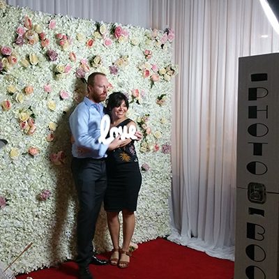 Flower Wall Photo Booth for Wedding