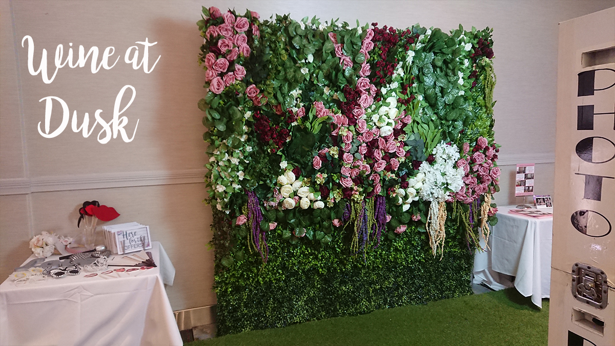 Burgundy and Dusky Pink Flower Wall for Hire Perth