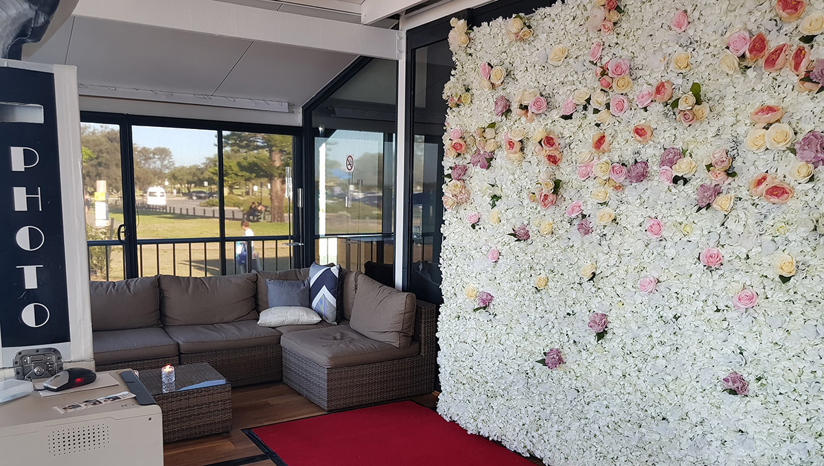 Ivory and Gold Flower Wall Perth