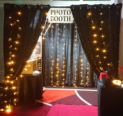 Warm Black LED Enclosed Photo Booth