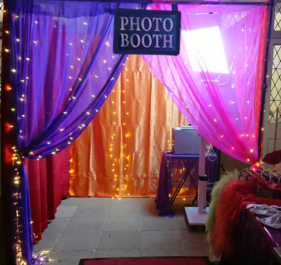 Warm Colourful LED Enclosed Photo Booth Perth