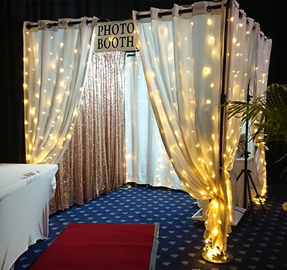 Warm White LED Enclosed Photo Booth