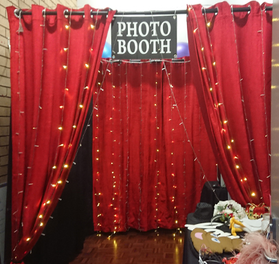 Warm Red LED Enclosed Photo Booth