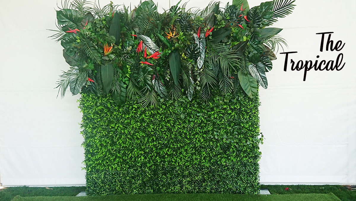 The Tropical Flower Wall for Hire Perth