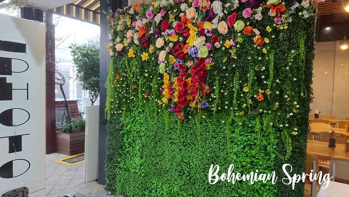 Bright and Vivid Flower Wall for Hire Perth