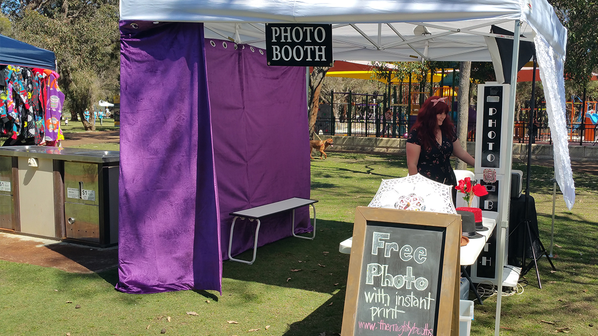 Doggies Day Out Photo Booth at Whiteman Park