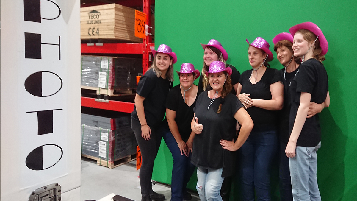 Green Screen at Bunnings Cannington