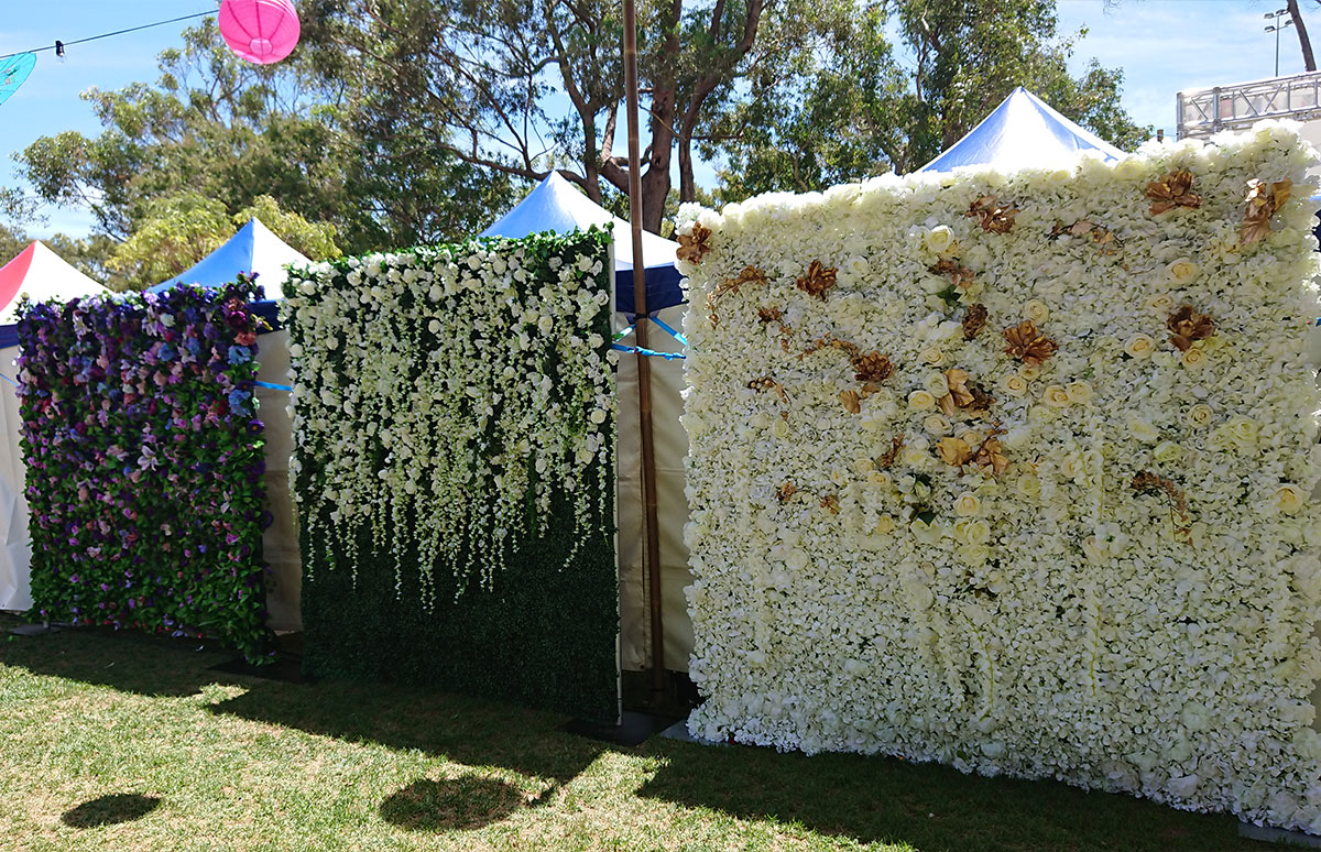 Flower Wall Hire for Party Perth