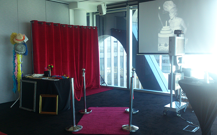 Premium Open Photo Booth - the photo booth becomes part of the entertainment!