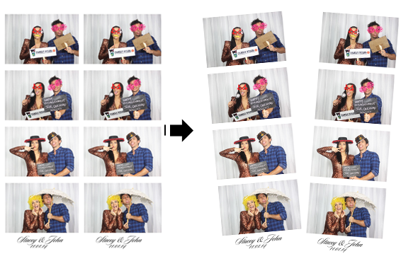 Photo Booth Photos 4 Strips Cut Layout