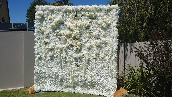 Shades of White Flower Wall