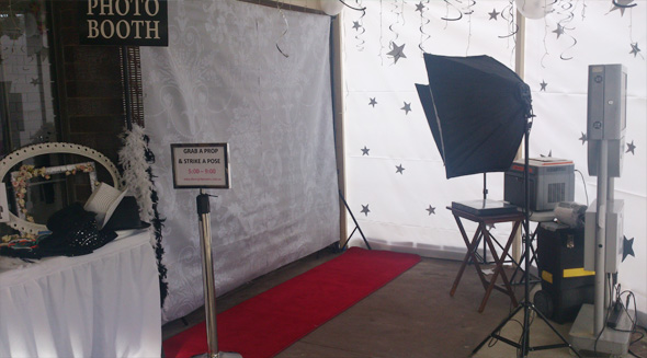 Open Set-Up Photo Booth from The Mighty Booths